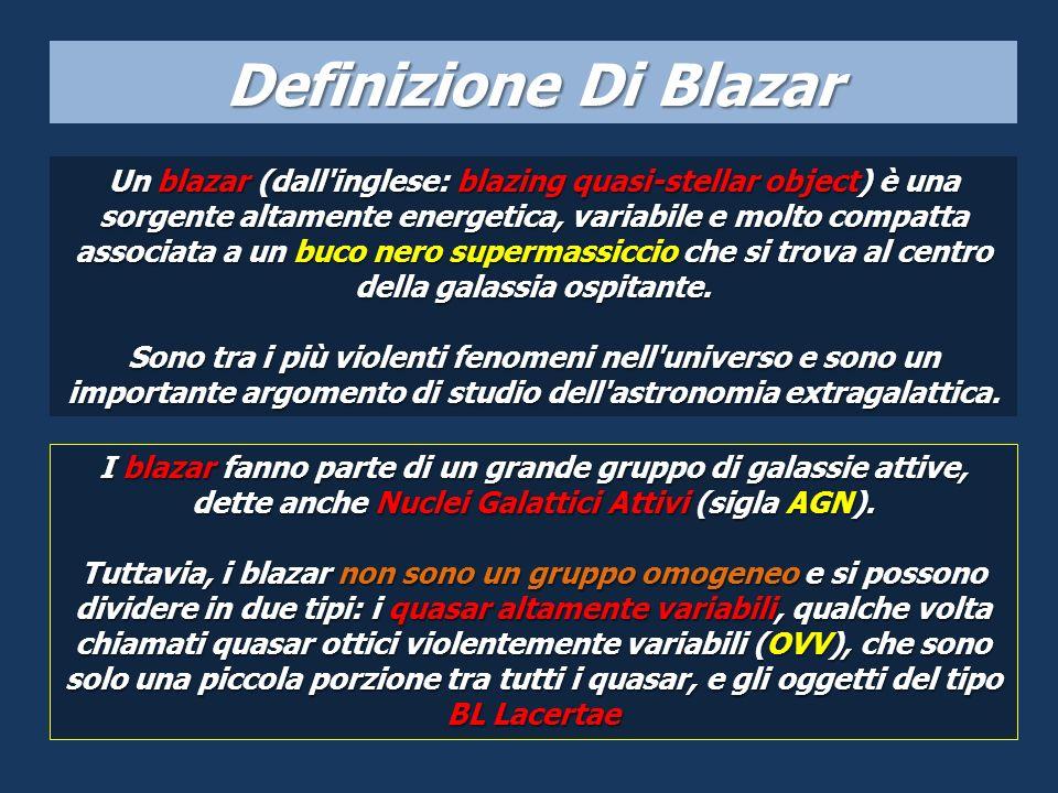 Un blazar (dall'inglese: blazing quasi-stellar object) è una sorgente altamente energetica, variabile e molto compatta associata a un buco nero superm