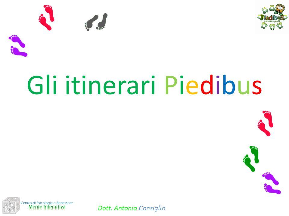 Gli itinerari Piedibus Dott. Antonio Consiglio