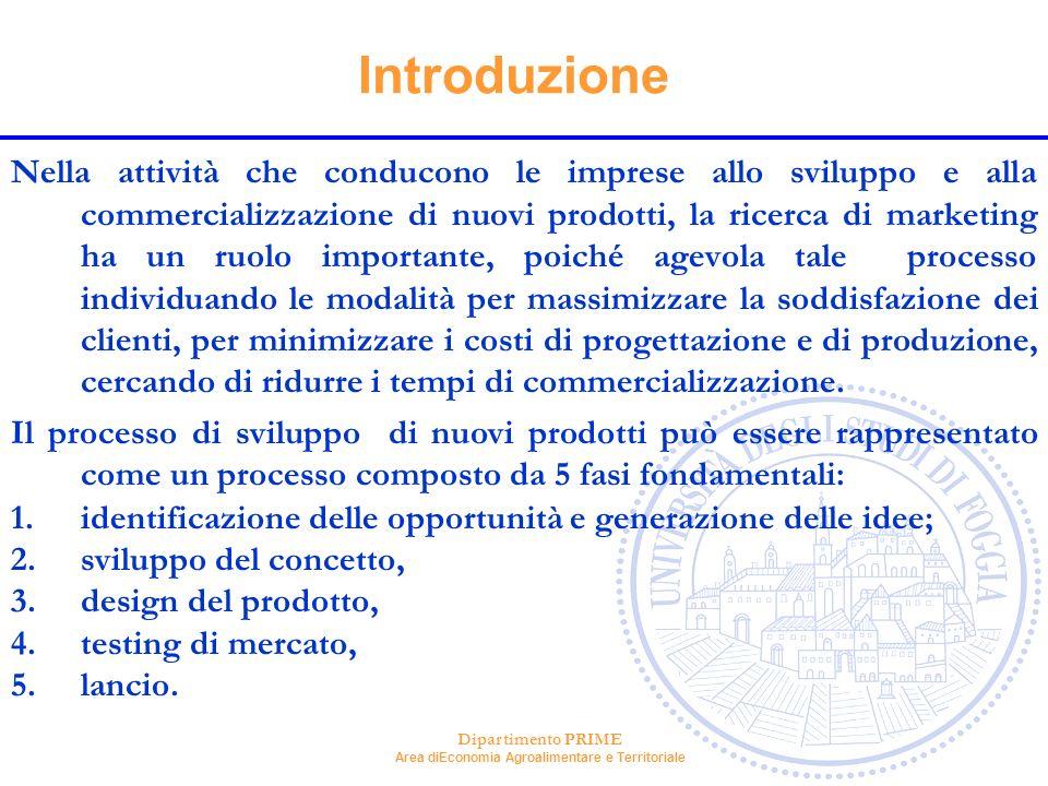 Dipartimento PRIME Area diEconomia Agroalimentare e Territoriale Introduzione Nella attività che conducono le imprese allo sviluppo e alla commerciali