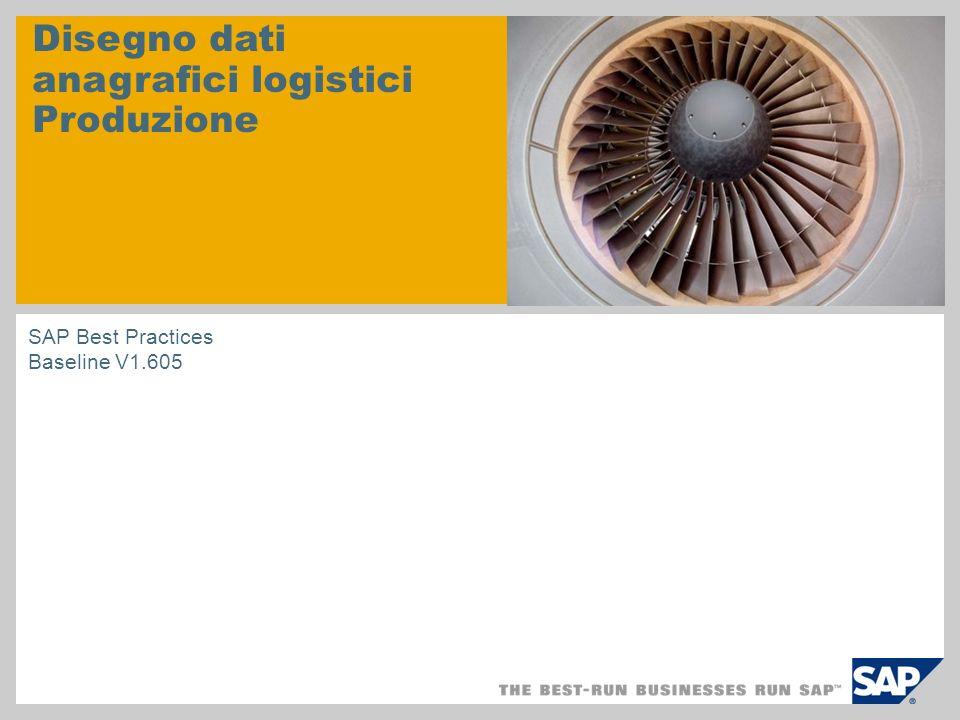 Disegno dati anagrafici logistici Produzione SAP Best Practices Baseline V1.605