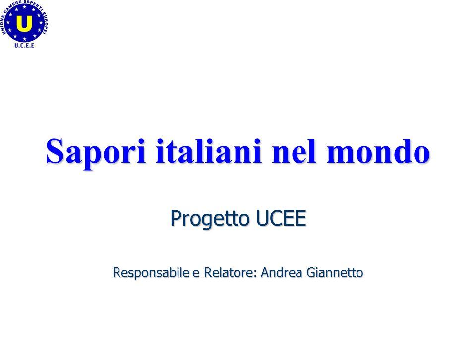 Sapori italiani nel mondo Progetto UCEE Responsabile e Relatore: Andrea Giannetto