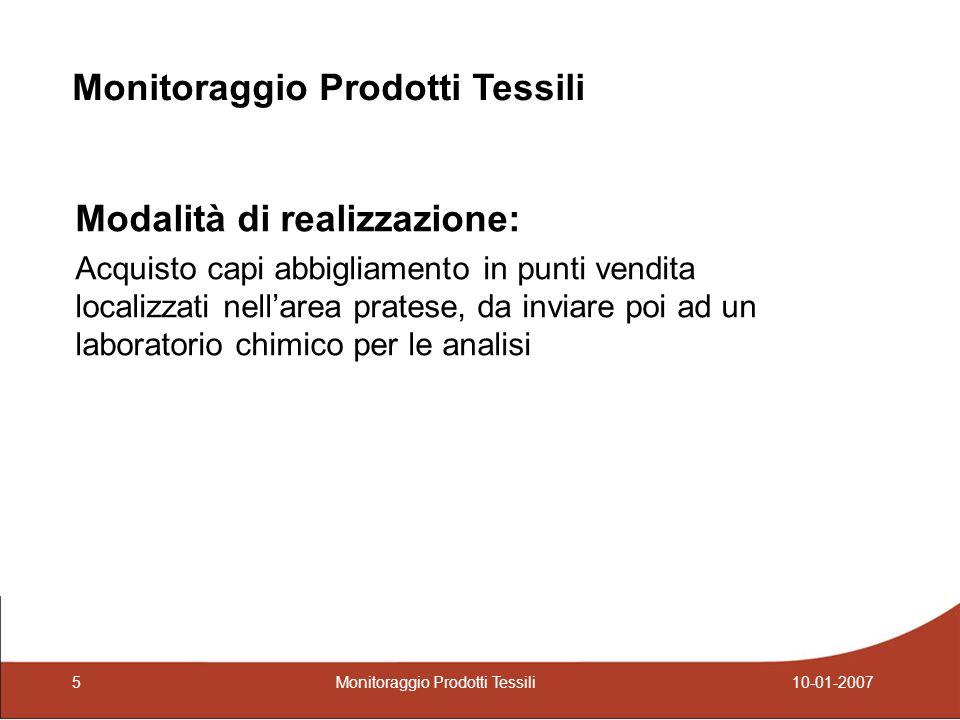 Risultati Etichettatura di manutenzione Non conformità rispetto alla tipologia di prodotto Monitoraggio Prodotti Tessili 510-01-2007