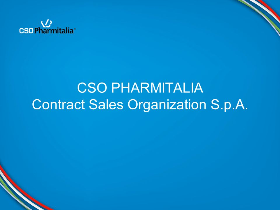 CSO PHARMITALIA Contract Sales Organization S.p.A.