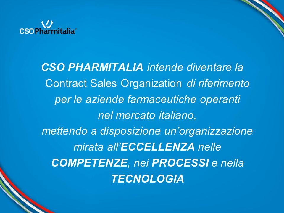CSO PHARMITALIA intende diventare la Contract Sales Organization di riferimento per le aziende farmaceutiche operanti nel mercato italiano, mettendo a
