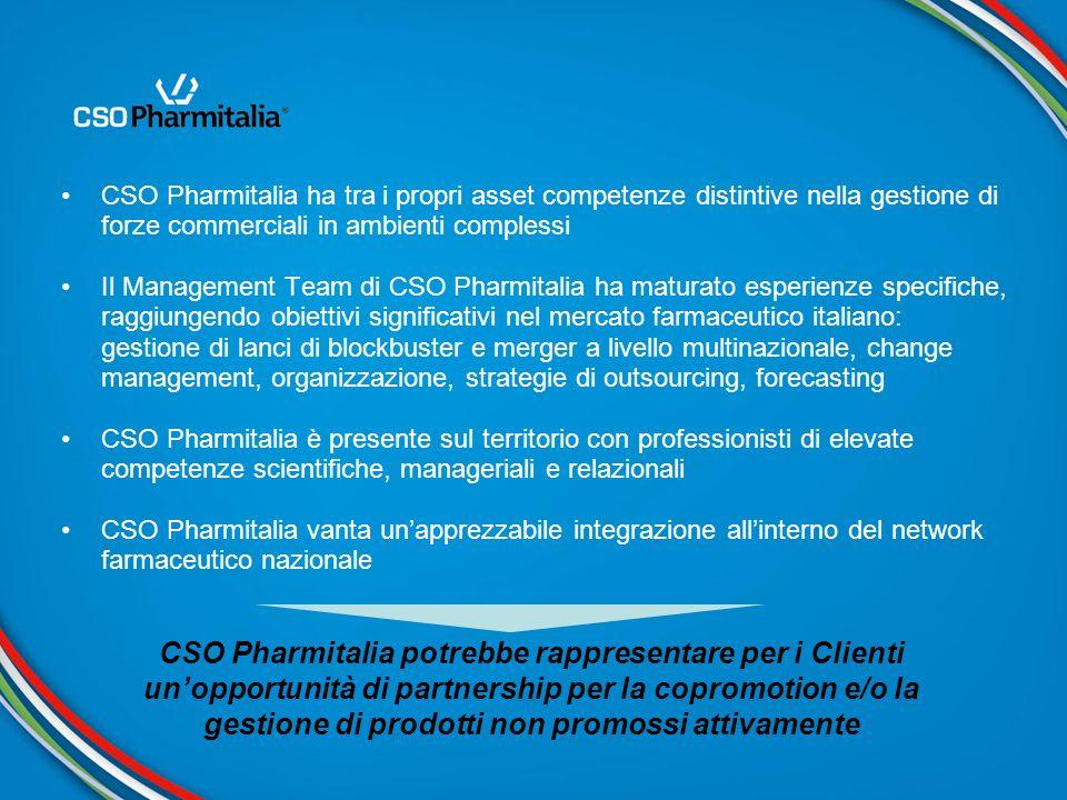 CSO Pharmitalia ha tra i propri asset competenze distintive nella gestione di forze commerciali in ambienti complessi Il Management Team di CSO Pharmi
