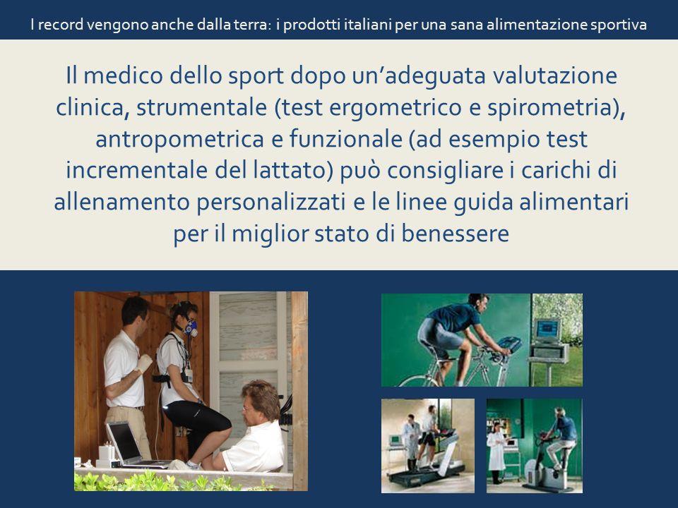 I record vengono anche dalla terra: i prodotti italiani per una sana alimentazione sportiva Il medico dello sport dopo unadeguata valutazione clinica,