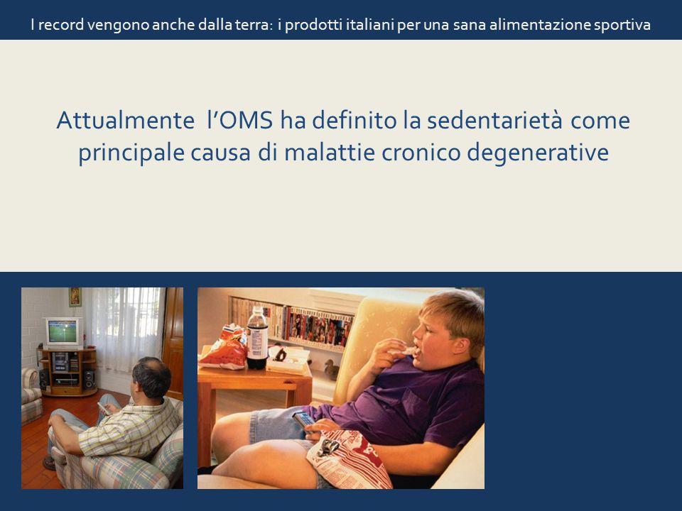 I record vengono anche dalla terra: i prodotti italiani per una sana alimentazione sportiva Attualmente lOMS ha definito la sedentarietà come principa