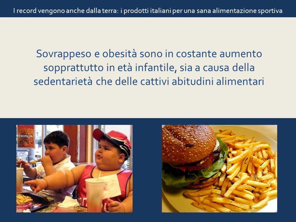 I record vengono anche dalla terra: i prodotti italiani per una sana alimentazione sportiva Sovrappeso e obesità sono in costante aumento sopprattutto