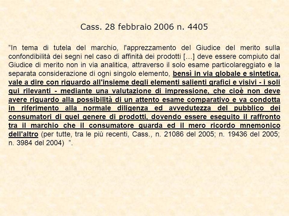 Cass.28 febbraio 2006 n.