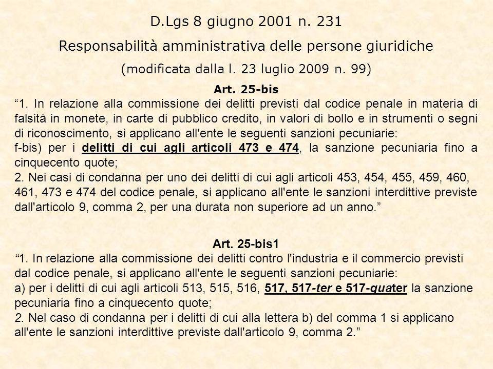 D.Lgs 8 giugno 2001 n.