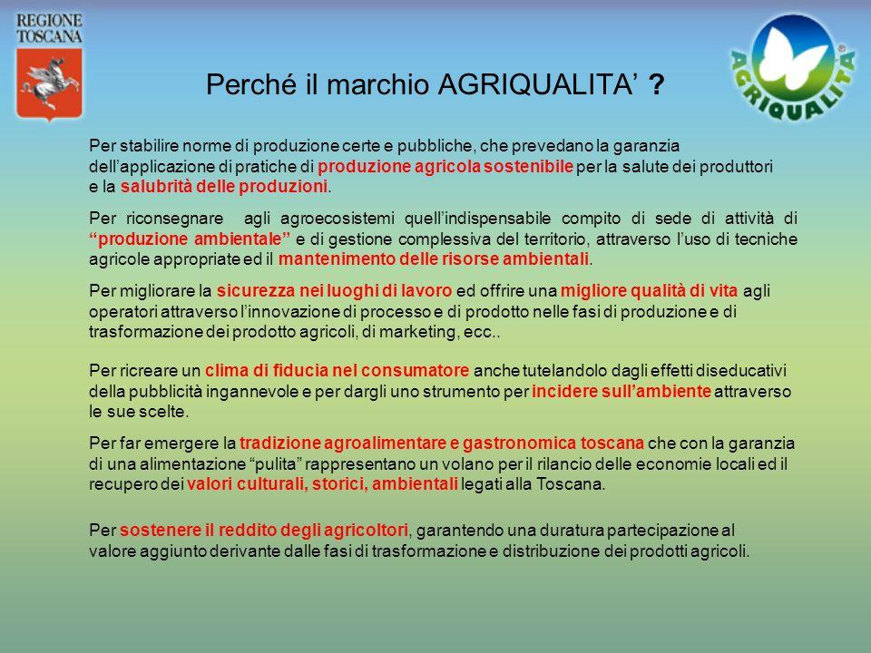 Il marchio AGRIQUALITA Una sfida per il settore agroalimentare toscano una opportunità per i consumatori