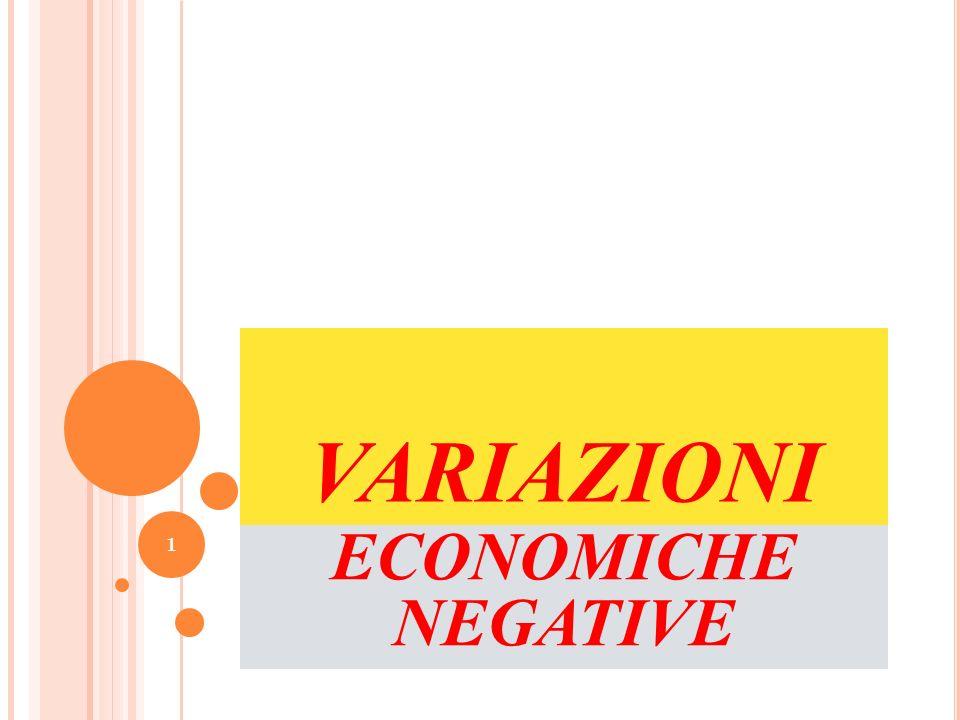 VARIAZIONI ECONOMICHE NEGATIVE 1