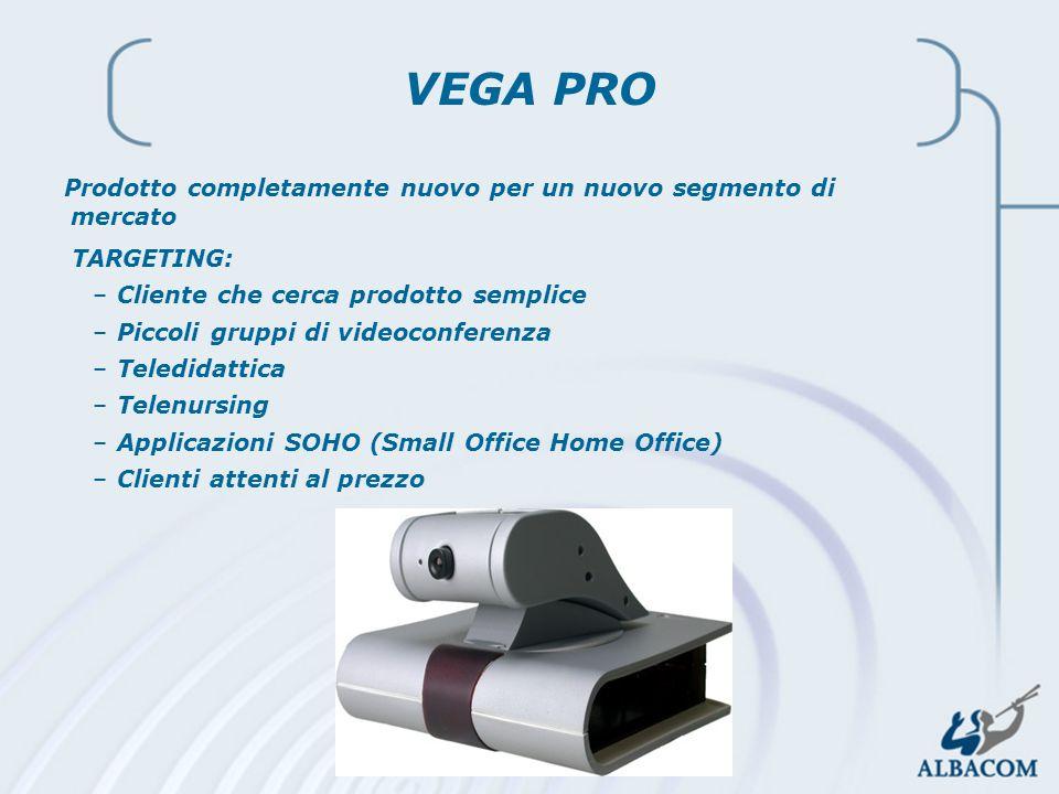 2002 Linea Prodotti Audio-Video VEGA PRO Prodotto completamente nuovo per un nuovo segmento di mercato TARGETING: –Cliente che cerca prodotto semplice