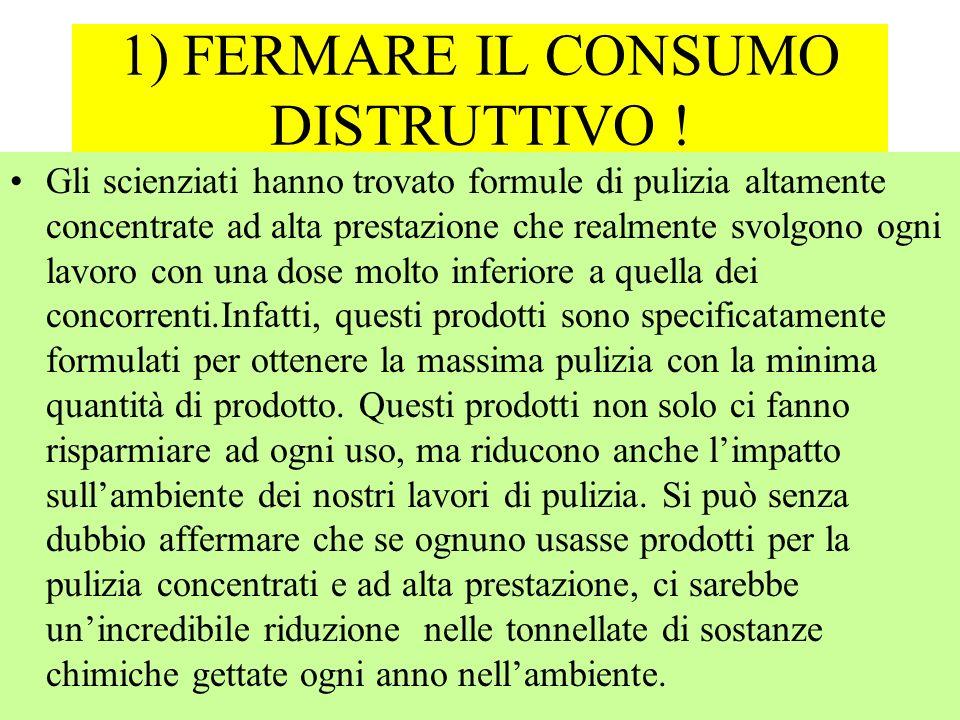 2) ACQUISTARE IN MODO INTELLIGENTE Ci sono anche altri vantaggi nel comprare prodotti per la pulizia altamente concentrati.