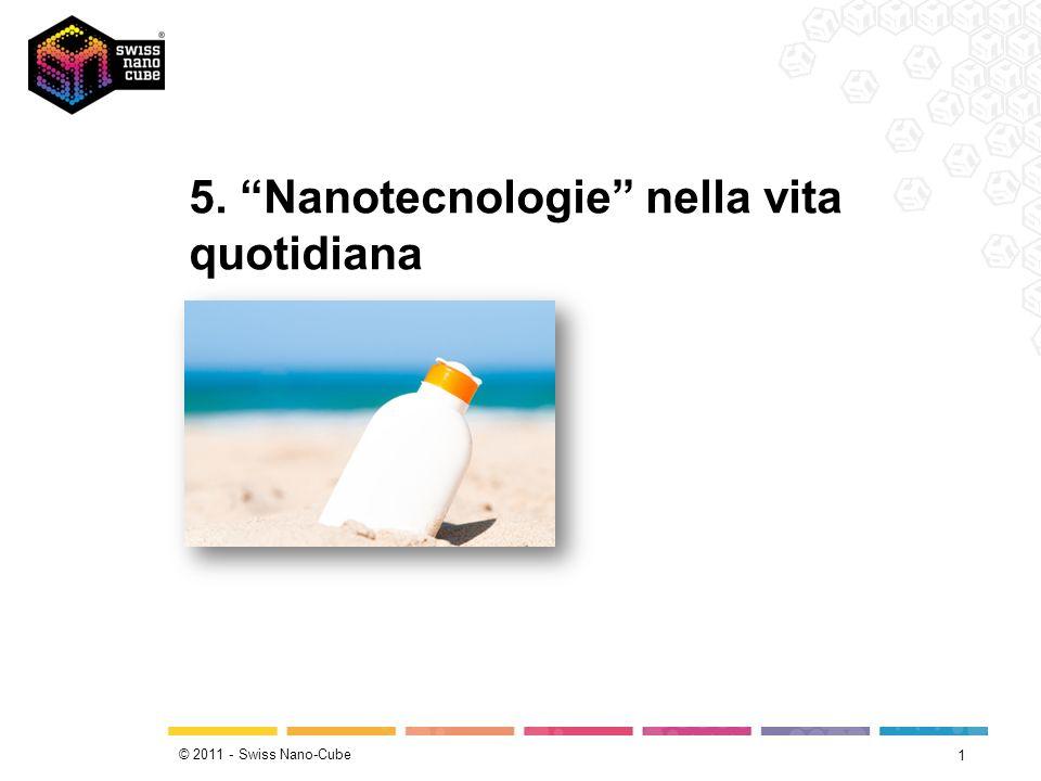 © 2011 - Swiss Nano-Cube 1 5. Nanotecnologie nella vita quotidiana