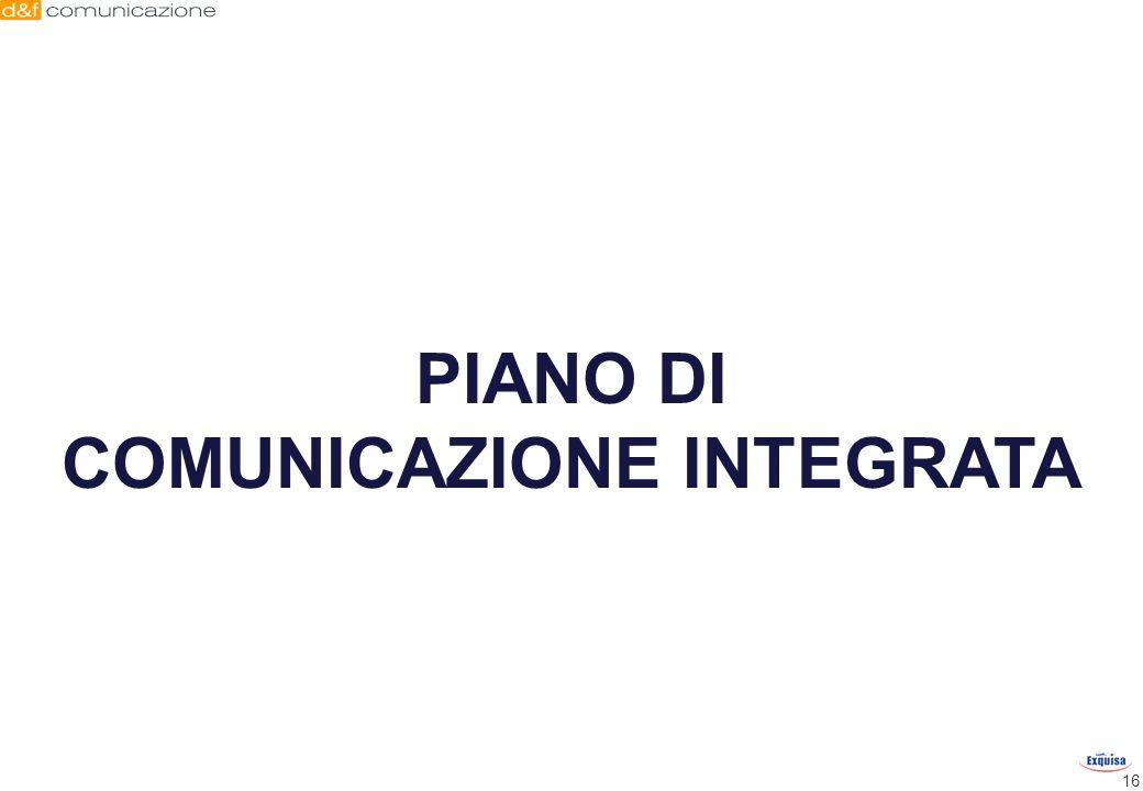 16 PIANO DI COMUNICAZIONE INTEGRATA