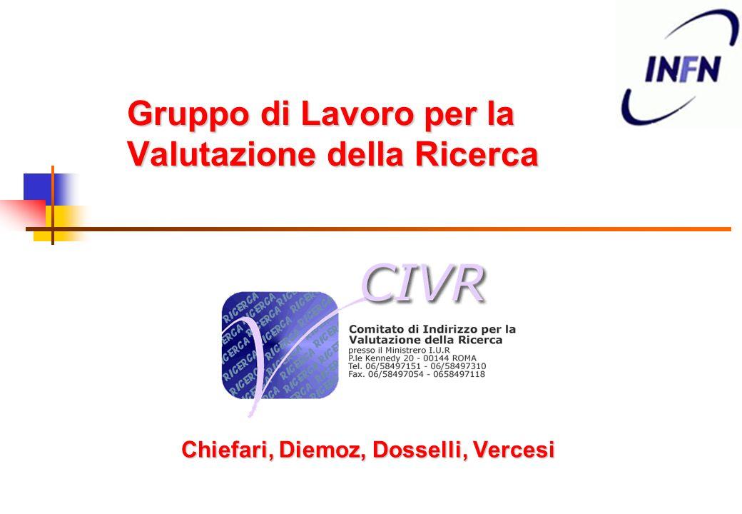 Gruppo di Lavoro per la Valutazione della Ricerca Chiefari, Diemoz, Dosselli, Vercesi