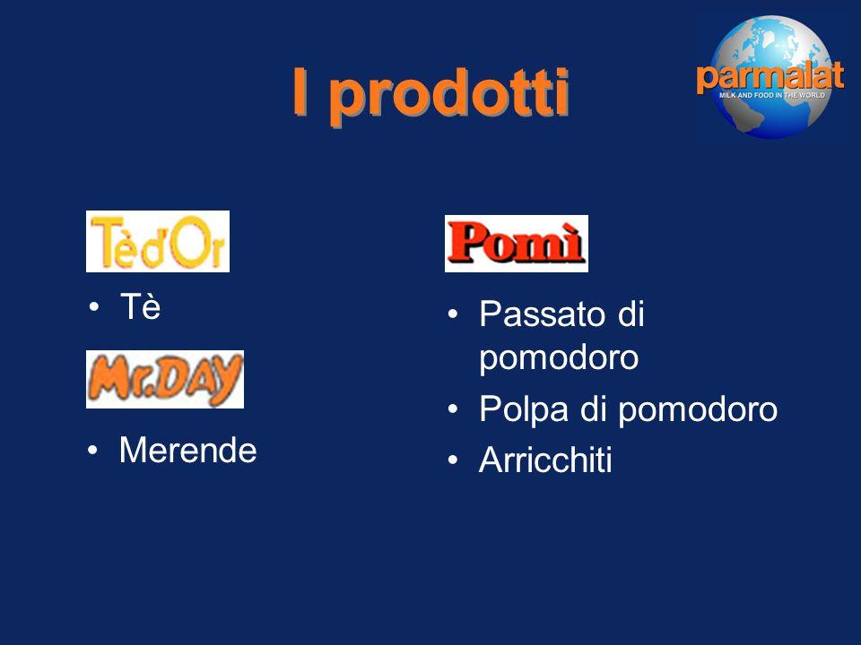 Succhi freschi Succhi 100 % UHT Nettari UHT Nettari light Bevande fruttate Dessert Pizze Focacce e panificati I prodotti Pasticceria