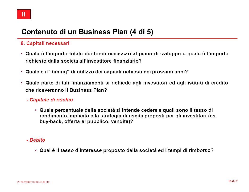 PricewaterhouseCoopers IBAN 8 9.