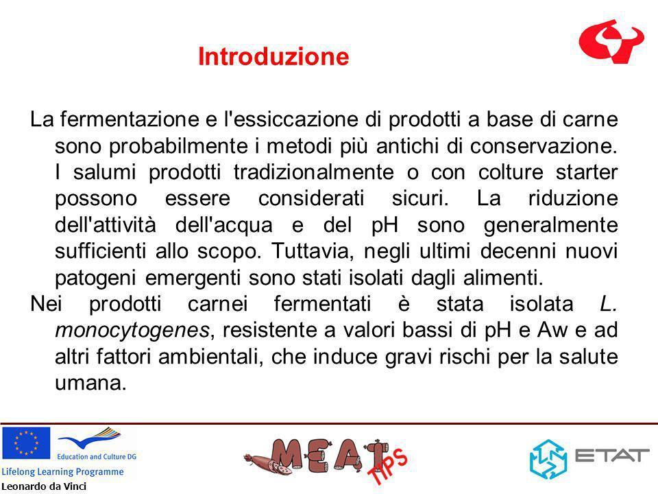Leonardo da Vinci Obiettivi L obiettivo del presente lavoro è di studiare la crescita, la sopravvivenza e la perdita di vitalità di L.