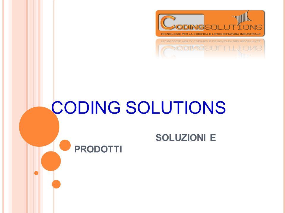 SOLUZIONI E PRODOTTI CODING SOLUTIONS