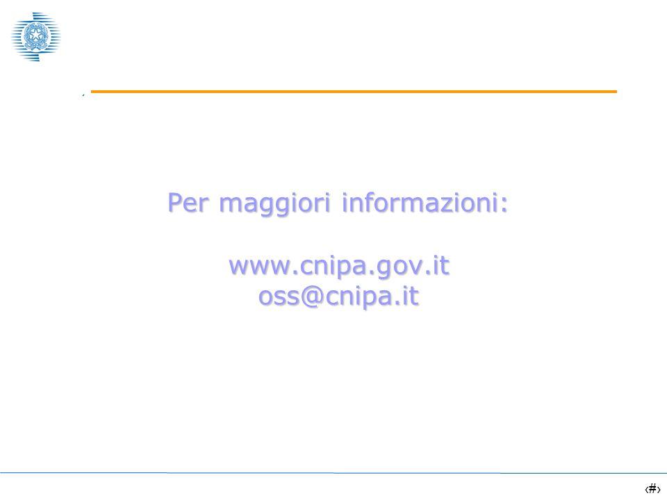 16 Per maggiori informazioni: www.cnipa.gov.it oss@cnipa.it