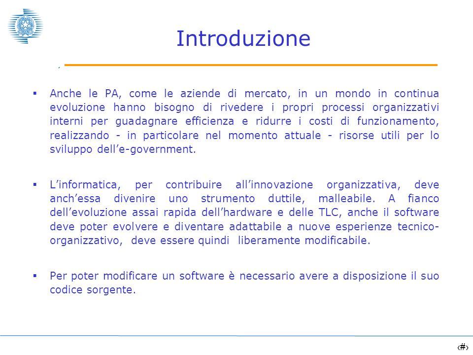 3 Introduzione Generalmente gli applicativi non vengono rilasciati insieme al proprio codice sorgente, ma solo in una forma pacchettizzata (formato binario/eseguibile).