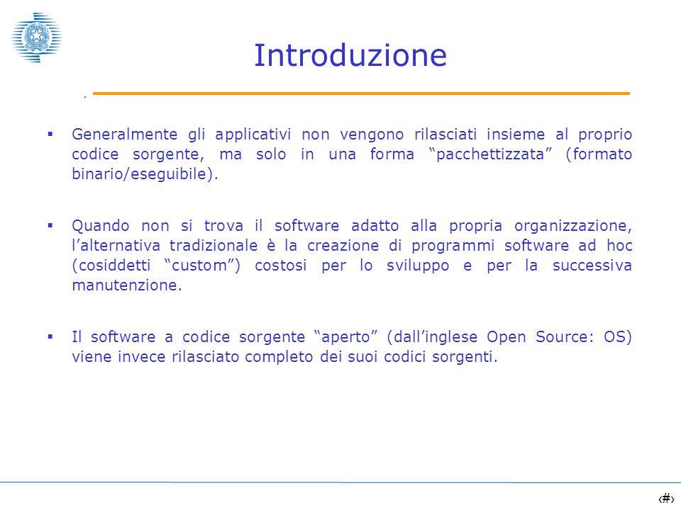 4 Vantaggi del software Open Source è possibile cederne copia (originale o modificata) a chiunque, in completa libertà (riuso accentuato) non occorre sostenere alcun costo di licenza è possibile installarlo su quante postazioni si desidera, senza oneri aggiuntivi