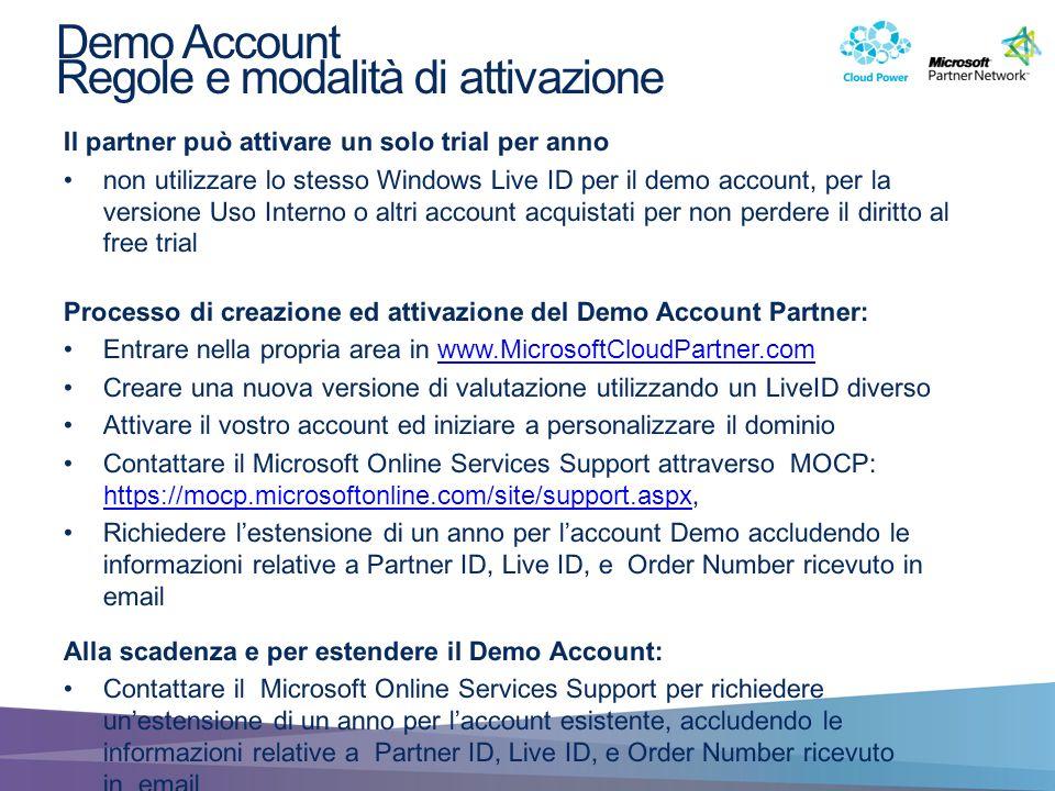 Demo Account Regole e modalità di attivazione