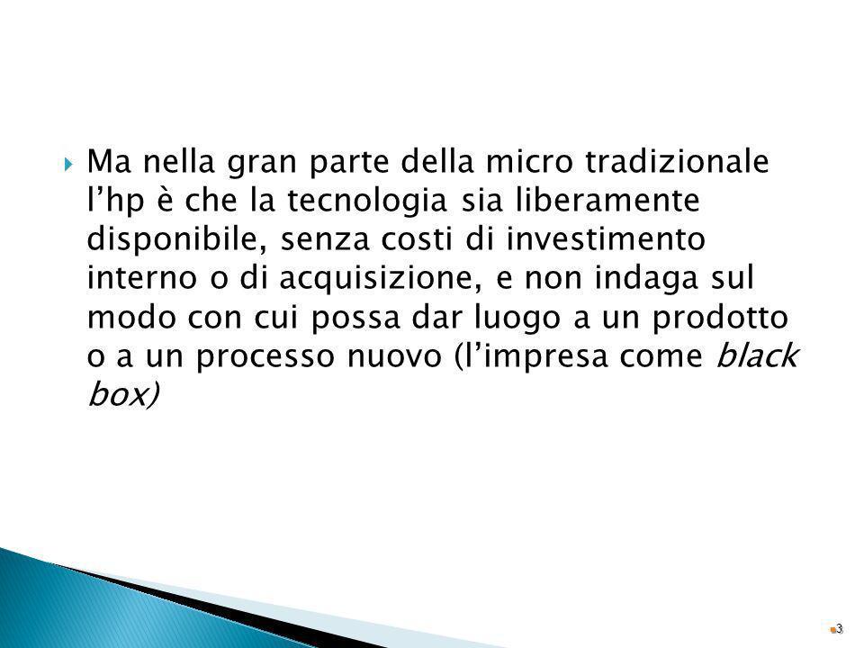 Ma nella gran parte della micro tradizionale lhp è che la tecnologia sia liberamente disponibile, senza costi di investimento interno o di acquisizion