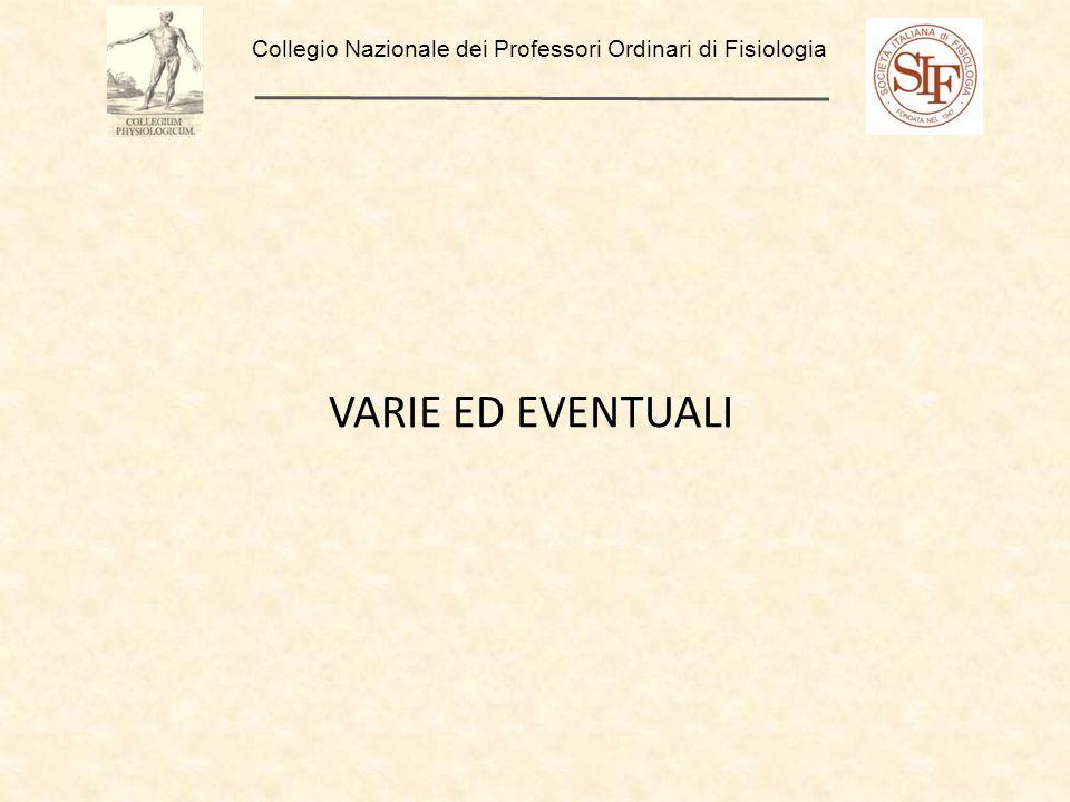 VARIE ED EVENTUALI