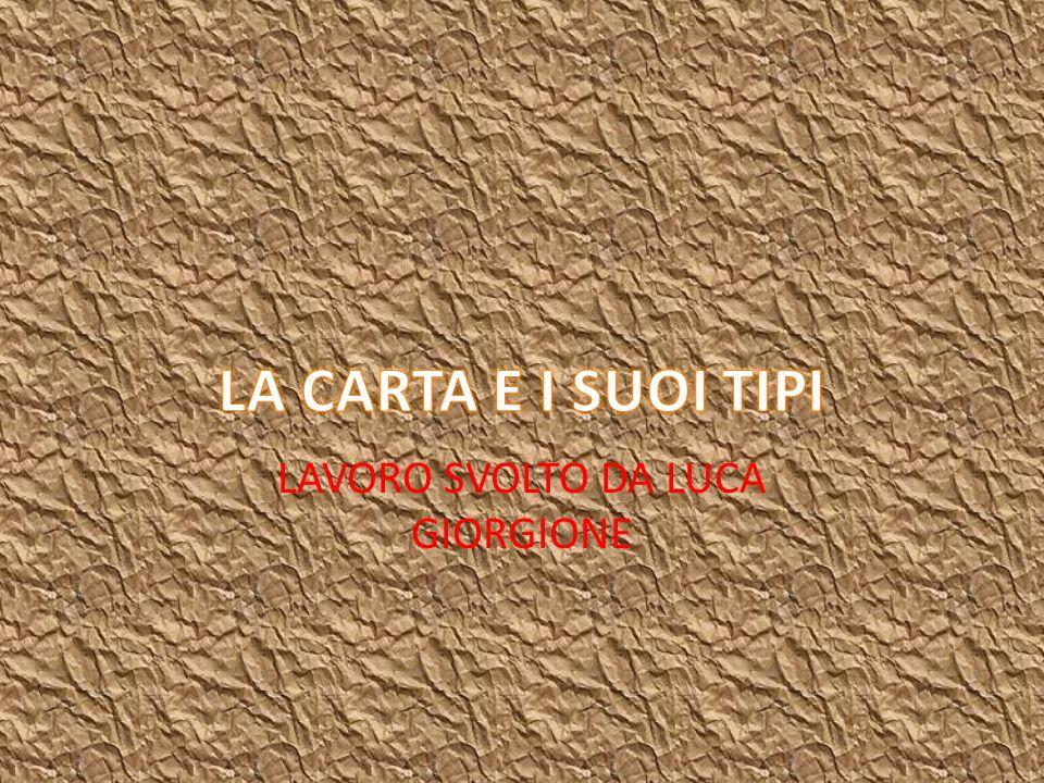 CARTA REGALO È particolarmente resistente, dato l uso cui è destinata: per la sua produzione si impiegano gli scarti della canapa.