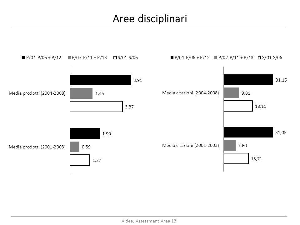 Aree disciplinari Aidea, Assessment Area 13