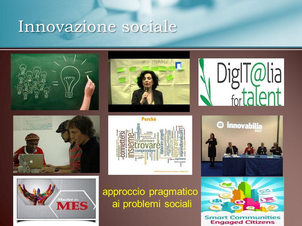 Innovazione sociale approccio pragmatico ai problemi sociali