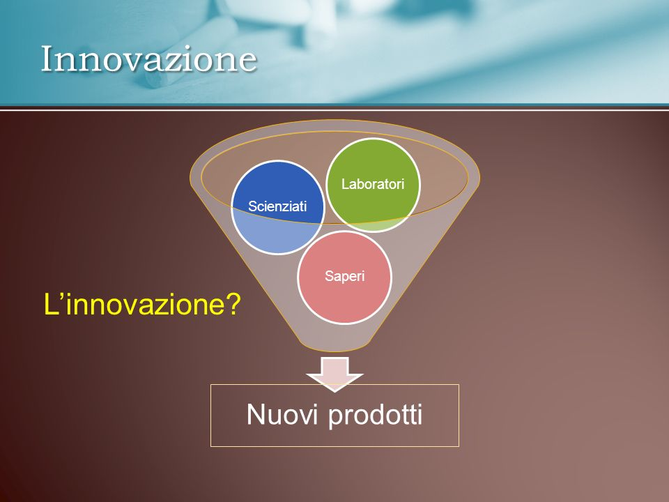 Innovazione sociale Nuovo modo di organizzare l attività umana ripensare tutto in modo radicale