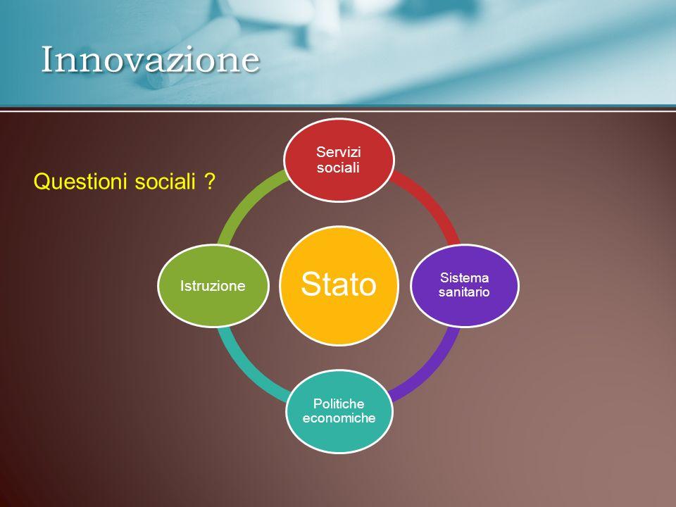Innovazione Stato Servizi sociali Sistema sanitario Politiche economiche Istruzione Questioni sociali