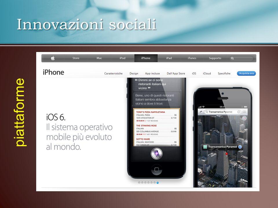 Innovazioni sociali piattaforme