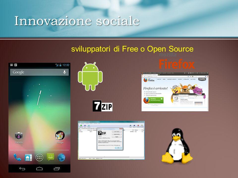 Innovazione sociale sviluppatori di Free o Open Source