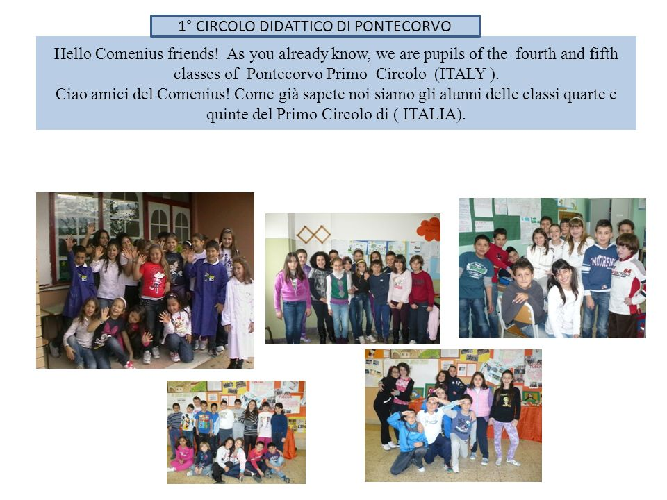 Hello Comenius friends.