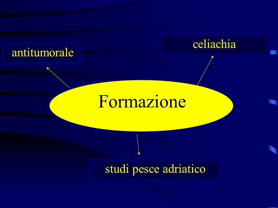 Formazione antitumorale celiachia studi pesce adriatico