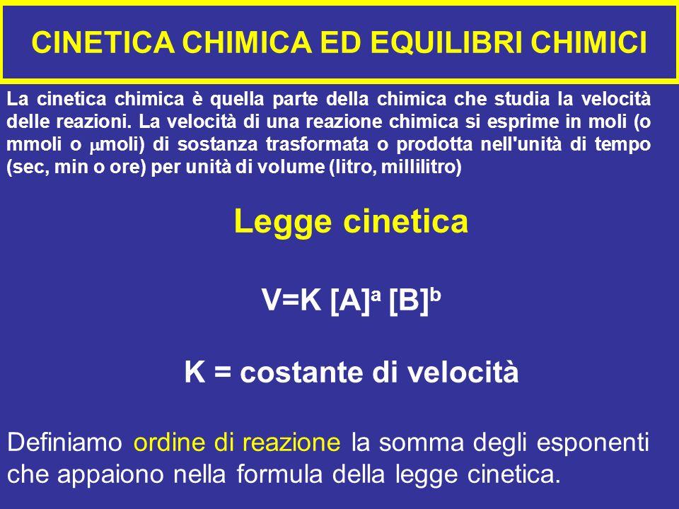 CINETICA CHIMICA ED EQUILIBRI CHIMICI La cinetica chimica è quella parte della chimica che studia la velocità delle reazioni.