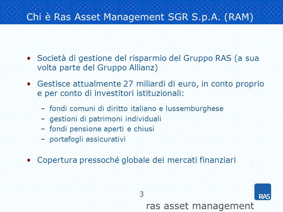 ras asset management 14 Il caso Parmalat: la dinamica di un indice di rischio di default Chiudere.