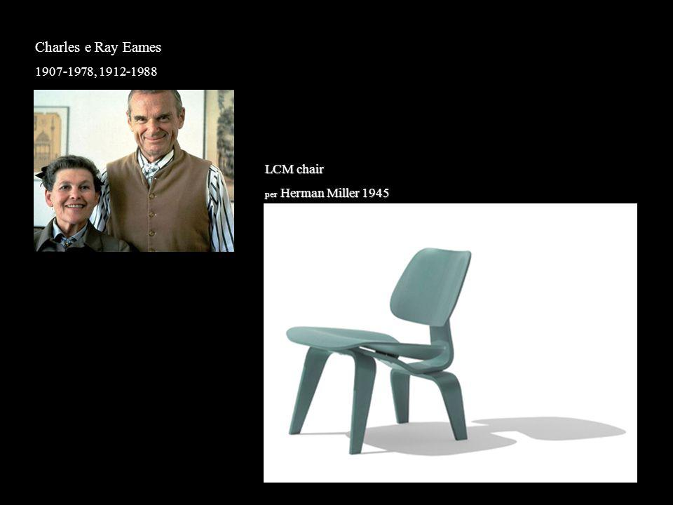 Charles e Ray Eames 1907-1978, 1912-1988 LCM chair per Herman Miller 1945