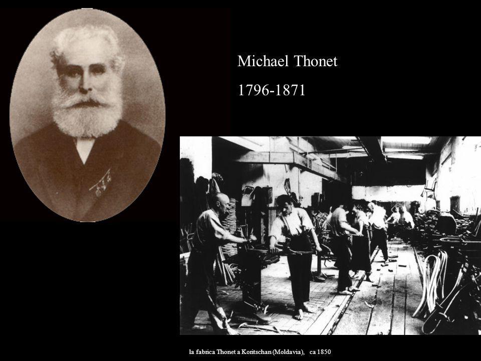Michael Thonet 1796-1871 la fabrica Thonet a Koritschan (Moldavia), ca 1850