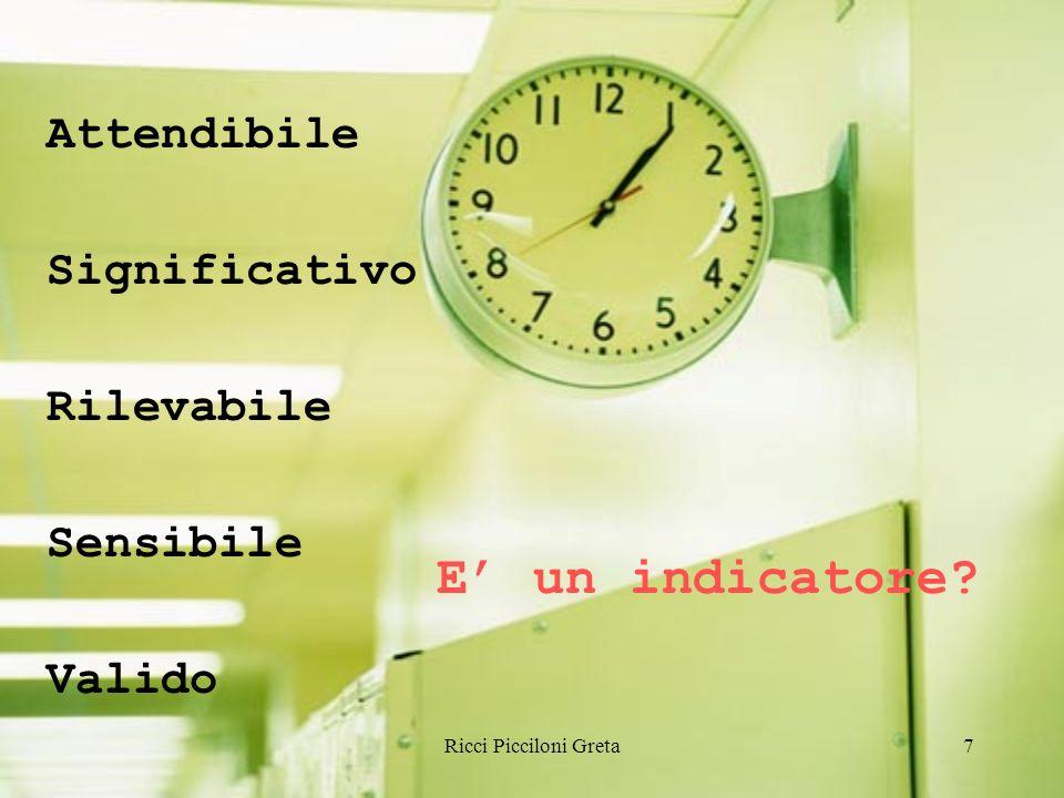 Ricci Picciloni Greta7 Attendibile Significativo Rilevabile Sensibile Valido E un indicatore?