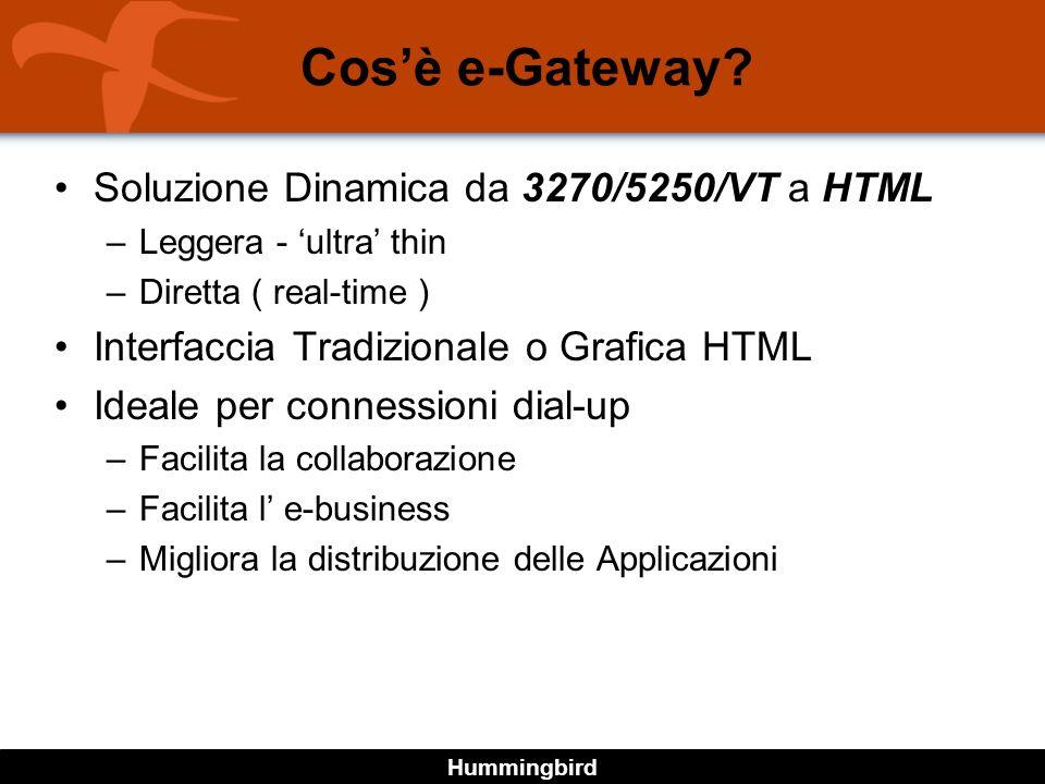 Hummingbird Cosè e-Gateway.
