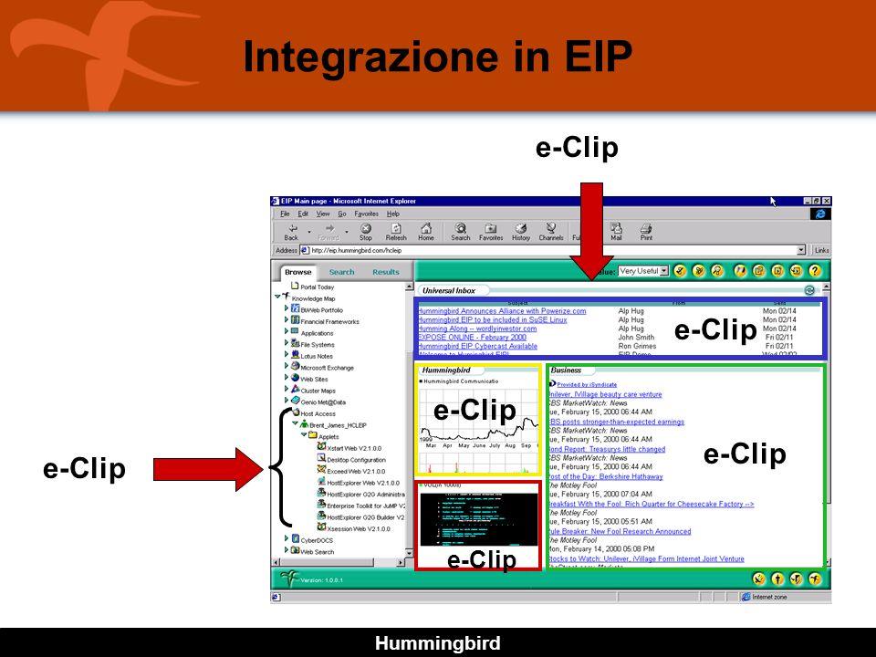 Hummingbird Integrazione in EIP e-Clip