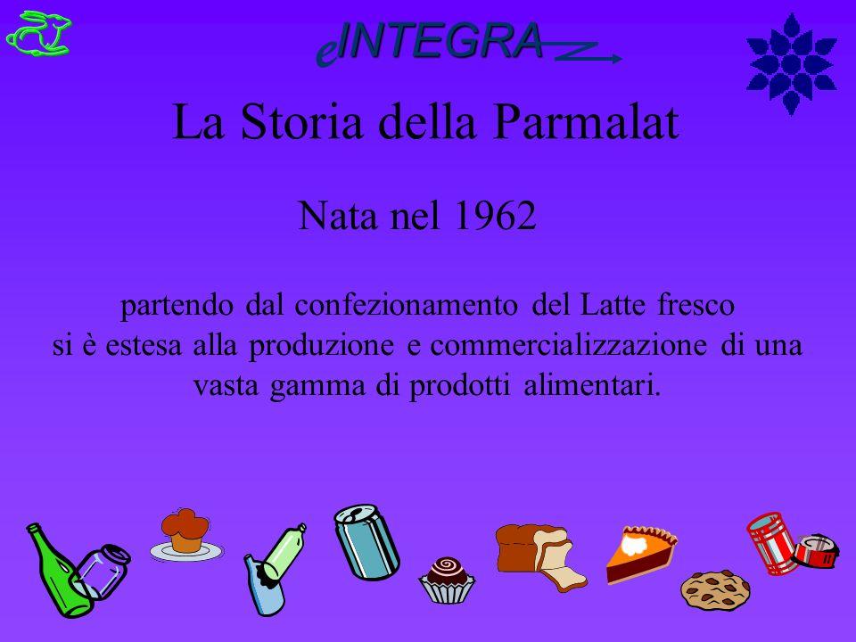 Nata nel 1962 La Storia della Parmalat partendo dal confezionamento del Latte fresco si è estesa alla produzione e commercializzazione di una vasta ga