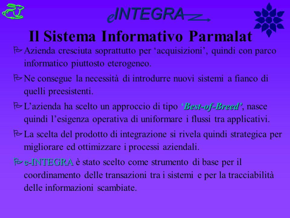 Il Sistema Informativo Parmalat PAzienda cresciuta soprattutto per acquisizioni, quindi con parco informatico piuttosto eterogeneo. PNe consegue la ne