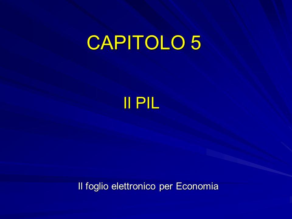 CAPITOLO 5 Il PIL Il foglio elettronico per Economia